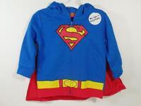Boy's Superman Light-weight Full Zip Hoodie Jacket & Cape, Sz 6-9 Months