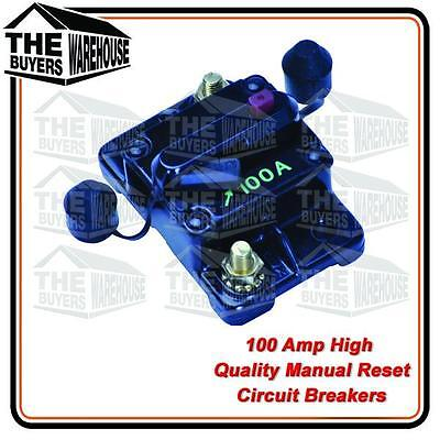 HIGH QUALITY 100 AMP MANUAL RESET WATER PROOF CIRCUIT BREAKER NARVA COMPETITOR