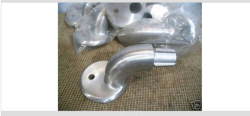 """4 Aluminum Hand Railing Wall Mounts for 1-5//8/"""" OD Pipe"""