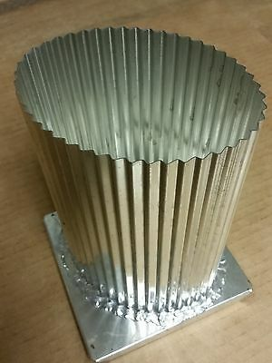 FLUTED OVAL Candle Mold (4-3/4 inches x 3-1/2 inches x 6-1/2 inches Tall)
