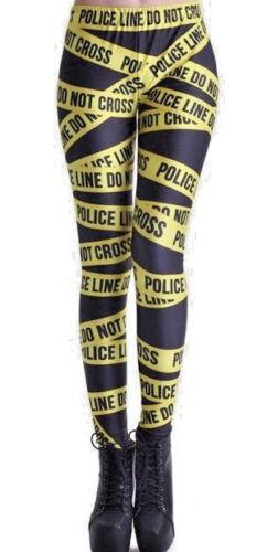 Police Do Not Cross Halloween Plus Size 16-22 Leggings
