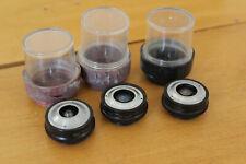 Lomo Microscope Objective Set Epi M27 Mikroskop 21x 40x 95x