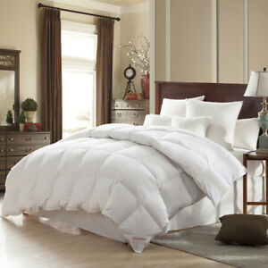 Super Oversized Soft And Fluffy Goose Down Feather Comforter King