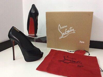 8bb63515936be Christian Louboutin Toot Haute 150 Black Shiny Shoe Boots