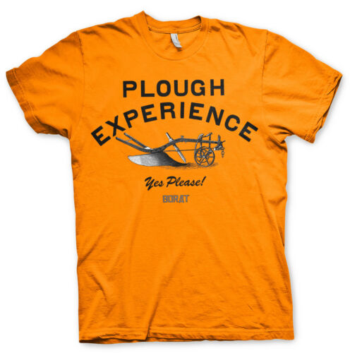 Officially Licensed Borat Plough Experience Yes Please Men/'s T-Shirt S-XXL