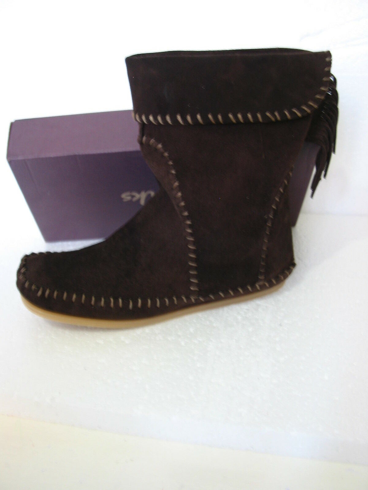 NEW CLARKS SOUL OF AFRICA SUEDE PULL ON BOOTS BOOTS SIZE 5/38