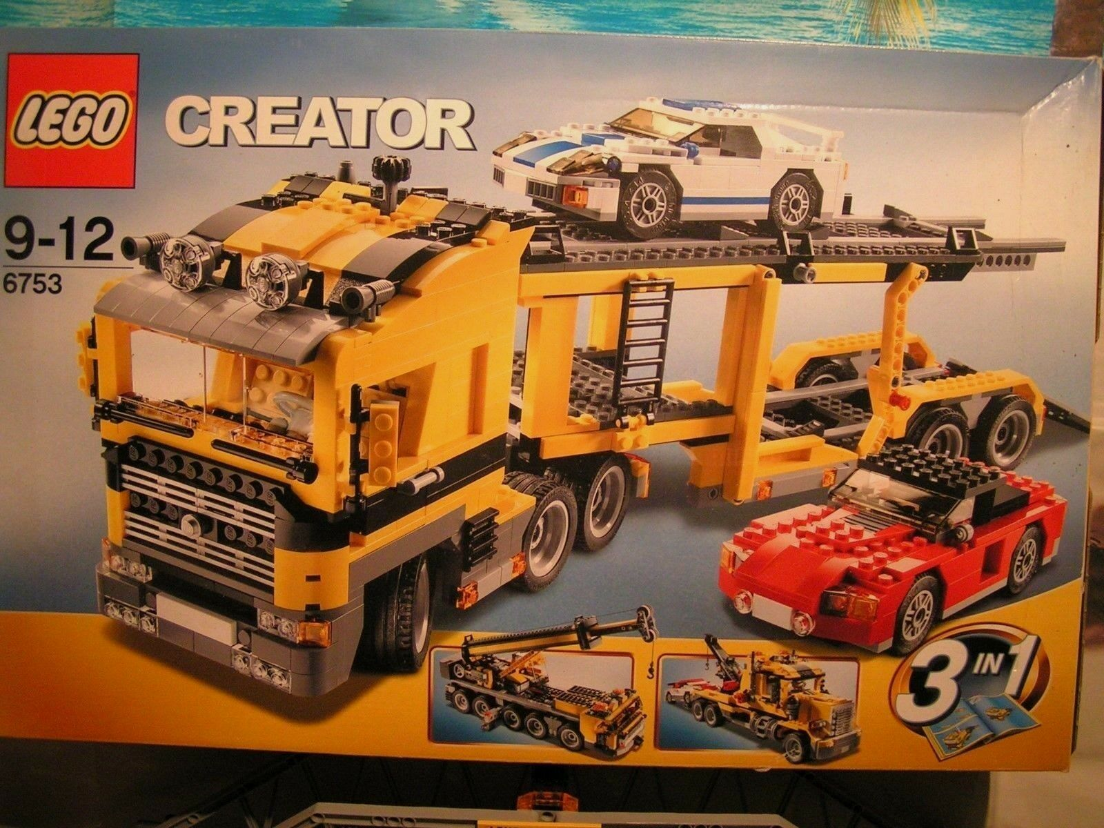 LEGO CITY  -  CAMION TRANSPORT DE VOITURES   ref 6753  + 1 FERRARI F1 EN CADEAU