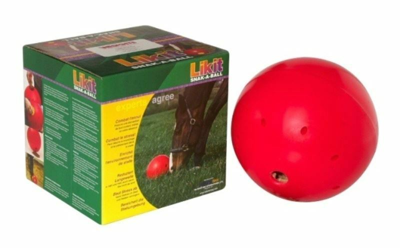 Likit - Horse Stable Boredom Snak-a-Ball Red
