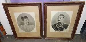 2 Antike Bilder Hilda Und Friedrich Erbgroßherzogin Und Erbgroßherzog Von Baden