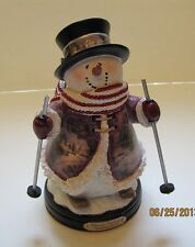 Thomas Kinkade Figurine - Holiday Spirit Snowman New Item 1513888013 COA