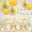 thumbnail 56 - Pinwheel Cut Out Wall Paper Fans Wedding Birthday Party Decoration Baby Shower