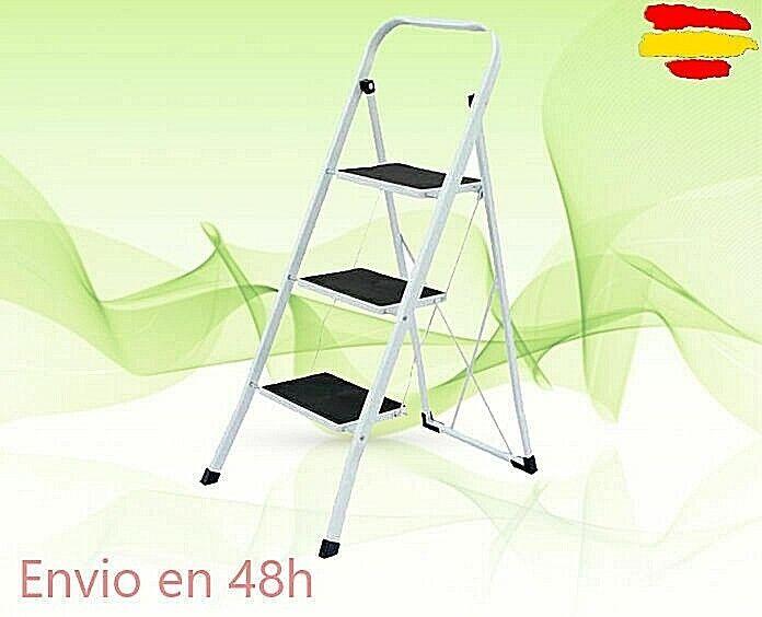 ESCALERA METALICA PLEGABLE 3 PELDAÑOS ref: 25406