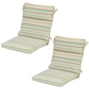 Details About 2x Hampton Bay Outdoor Patio Chair 21 5 20 Standard Rigby Stripe 7718 02225000
