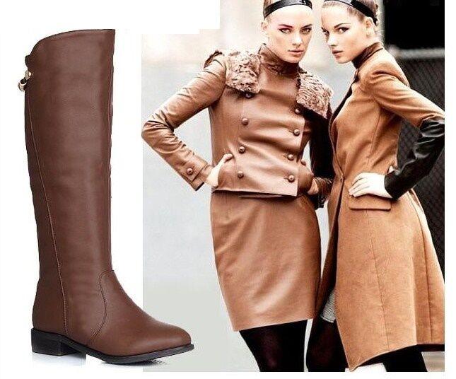 stivali stivaletti scarpe tacco 3 CM marrone nero  comodi simil pelle 9160