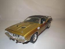 "Highway 61  Plymouth  Cuda  383  ""1970""  (gold-metallic) 1:18  ohne Verpackung !"