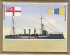 Cruiser croiseur Kreuzer Amethyst Royal Navy UK Battleship FLAG CARD 30s