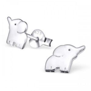 925-Sterling-Silver-Elephant-Animal-Stud-Earrings-amp-Gift-Box-8