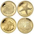 2013 Canada 1/25th oz. Gold 4 coin Set - .9999 fine