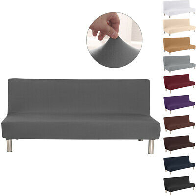 Armless Sofa Bed Cover Stretch Slipcover Settee Folding Couch Futon Protector S
