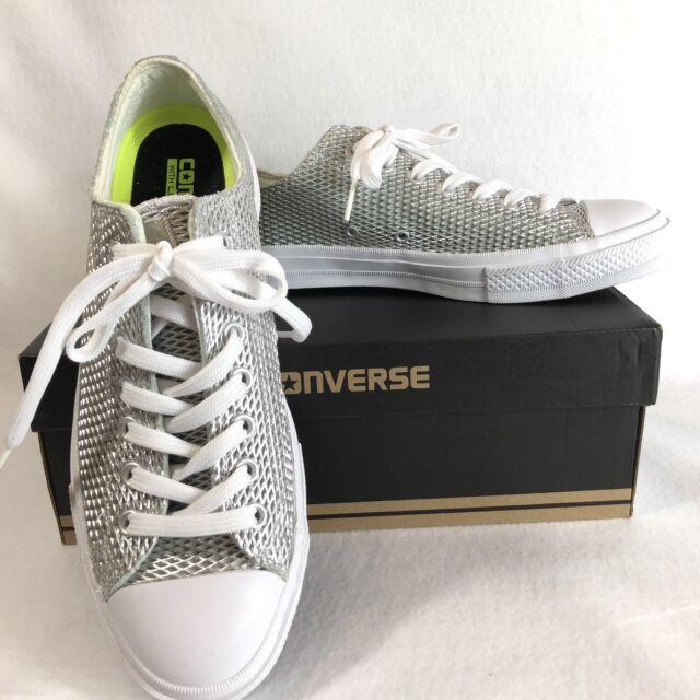 Converse Sneakers All Star CTAS II Ox Low Top SilverWhite 555800C Sz 11 WOMEN