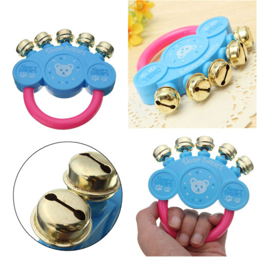 Baby Children Kids Rattle Handbells Developmental Toys Hand Shaking Bell  DJ