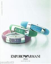 PUBLICITE ADVERTISING 056  2003  Emporio Armani collection montres