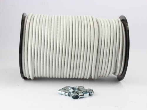 10mm Expanderseil weiß 30m 10 Würgeklemmen Gummiseil Seil Klemmen Plane