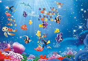 Underwater Cartoon Nemo Sea Full Wall Mural Photo ...