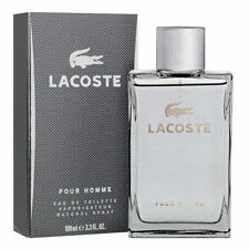 LACOSTE POUR HOMME GREY PERFUM-for men 3.3 EDT SPR MEN'S*COLOGNE NEW IN BOX*