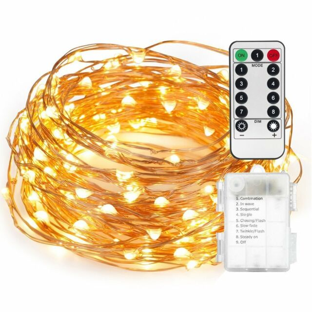 Fairy String Lights AndThere Battery Operated Waterproof 8 Modes Twinkling 50