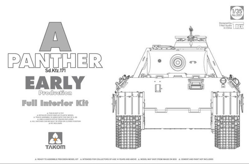 Takom 1  35 Sd.Kfz.171 Panther A Early Production with Full Interior