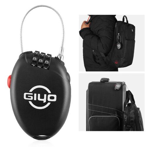 GIYO 3 Digit Password Bike Lock Multi Function Mini Cable Bicycle Anti Theft New