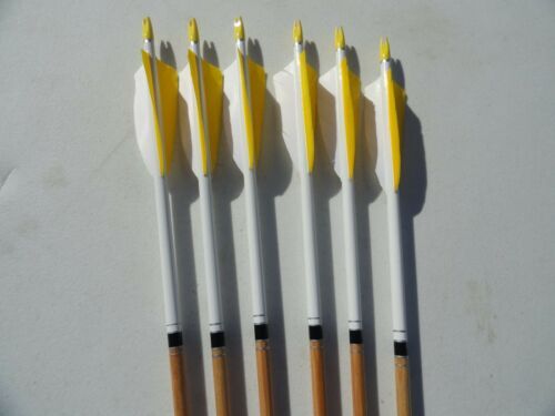 Wood Arrows 6 Packs. Spined and Weight Matched