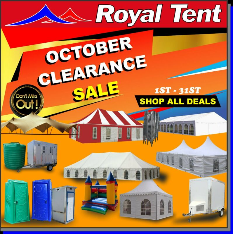 October Mega Clearance Sale On Tents And Mobile Products
