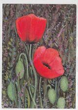 CP ART TABLEAU HEIDE DAHL red poppy & lavender