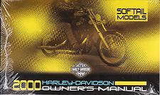 2000 Harley Softail Heratige Classic Springer Deuce Owner's Owners Owner Manual