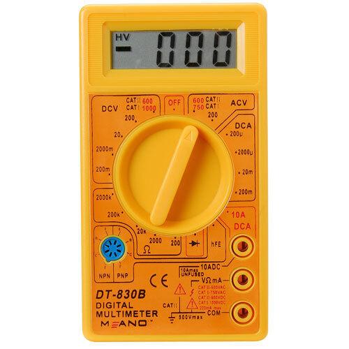 LCD Digital 19 Range Pocket Volt Ohm Amp AC DC Multimeter /& Probes USA Ship!