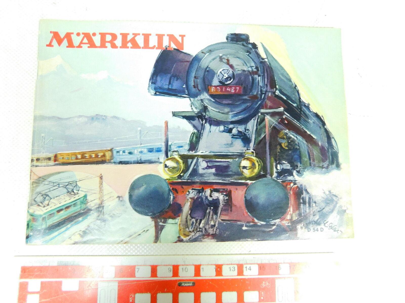 Bt687-0, 5  Märklin Catalogo D 54 d d54d 1954 senza coupon  metallo costruzione modulare etc