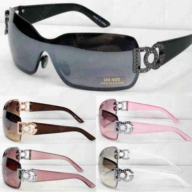 Mens Large One Lens Designer Shield Wrap Around Sunglasses Fashion Shades Retro