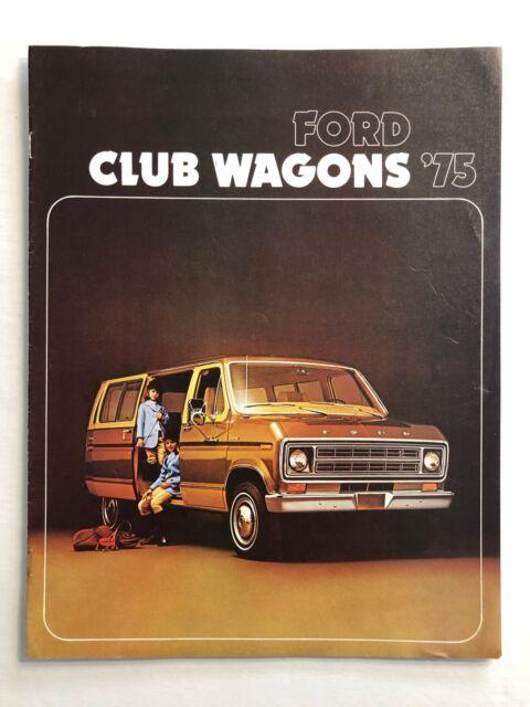 1975 Ford Club Wagon Van Vintage Car Truck Sales Brochure