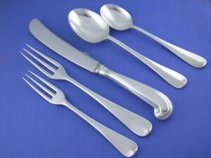 No Mono Stieff Williamsburg Queen Anne Sterling Silver 4 Piece Place Setting