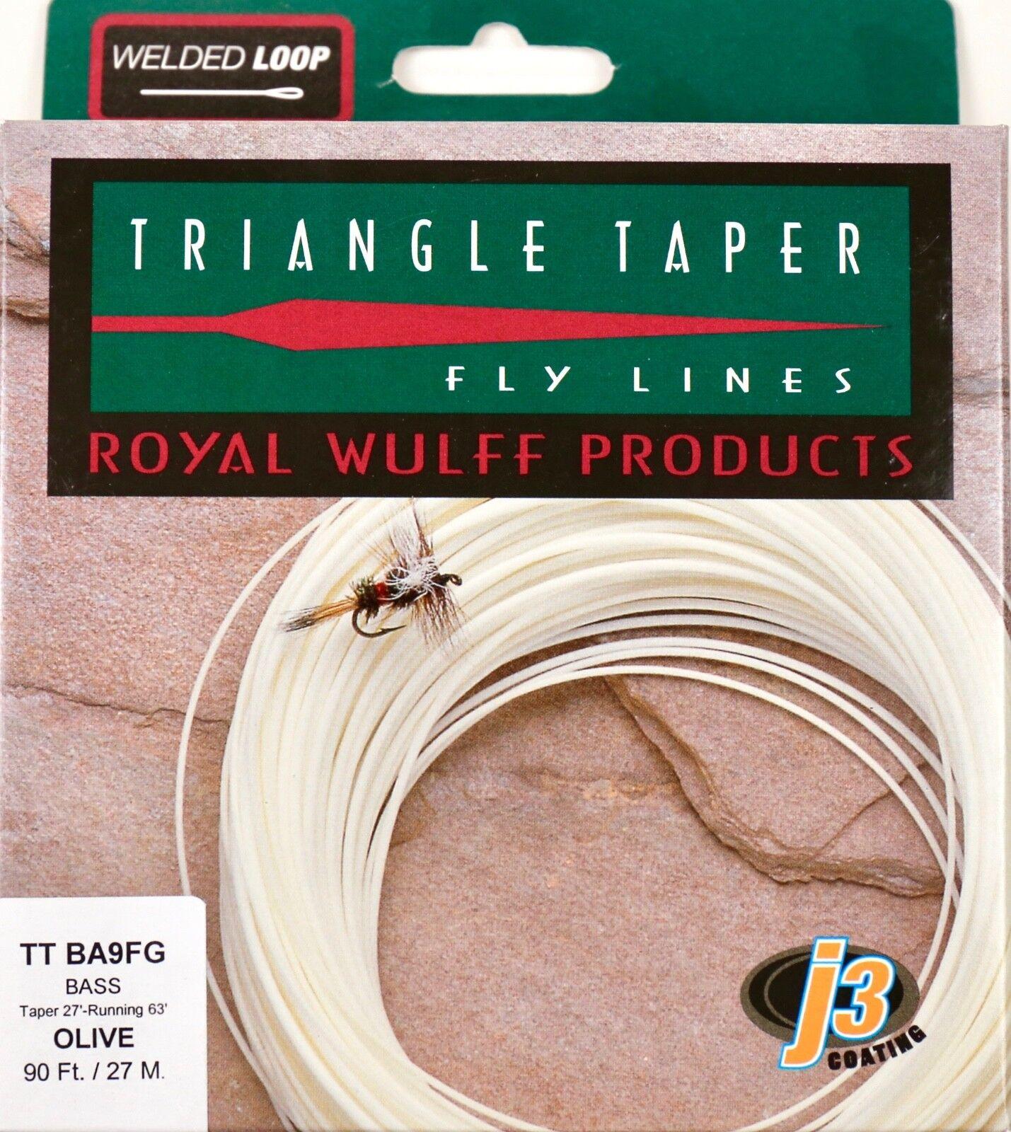 Royal Wulff Bass Triangle Taper 9 WT  Fly Line Olive Free Fast Shipping TTBA9FG  tiendas minoristas