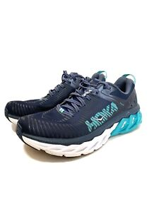 Womens-8-Hoka-One-One-Arahi-2-Shoes-Teal-Blue-Running-Athletic-Shoes