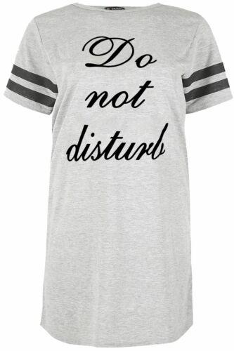 Grande taille femme Do Not Disturb Rayure Pyjamas Nuit Pyjama Chemise