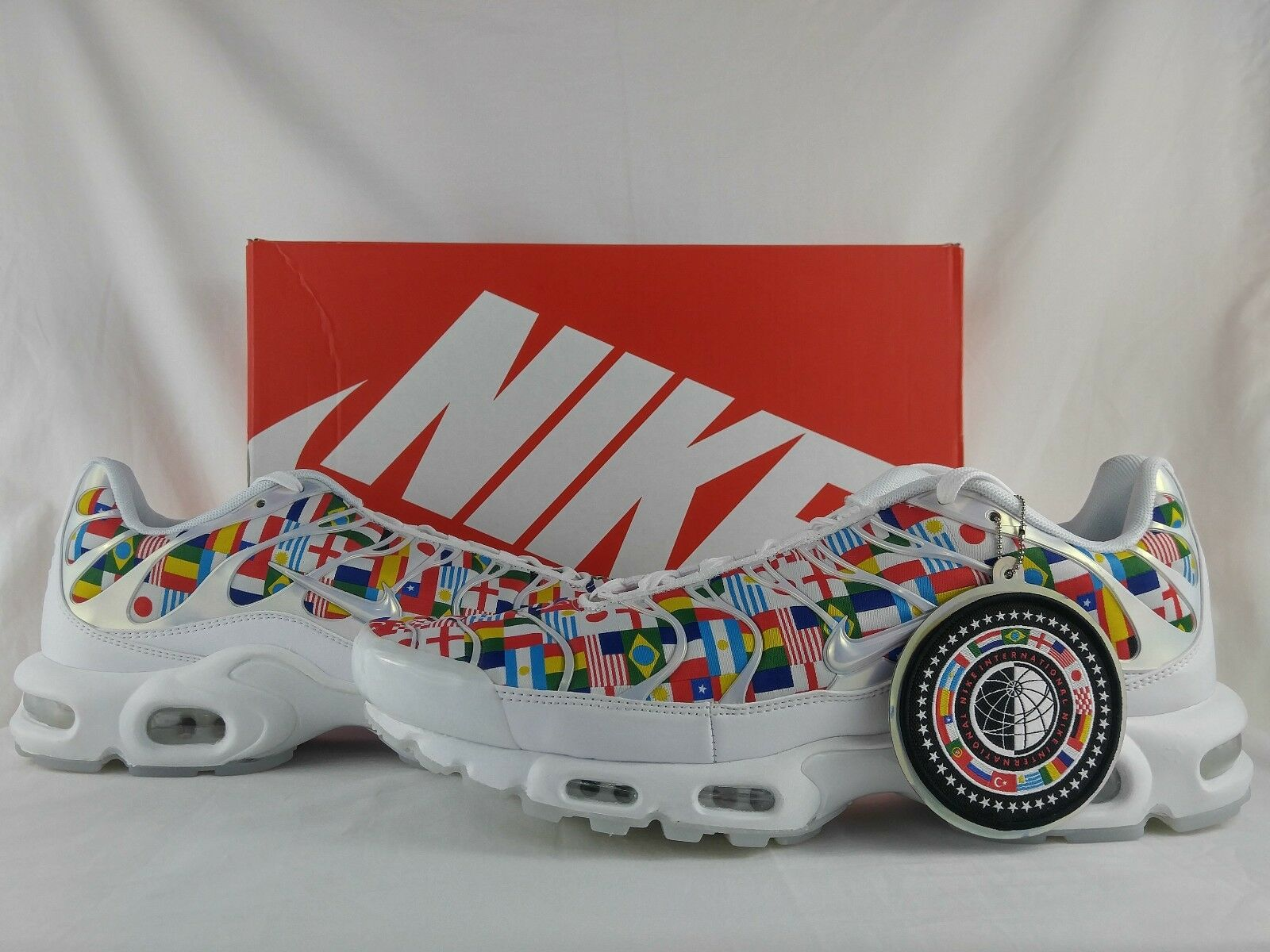 Nike Air Max Plus NIC QS International World Cup Flag White Multi AO5117-100 Men