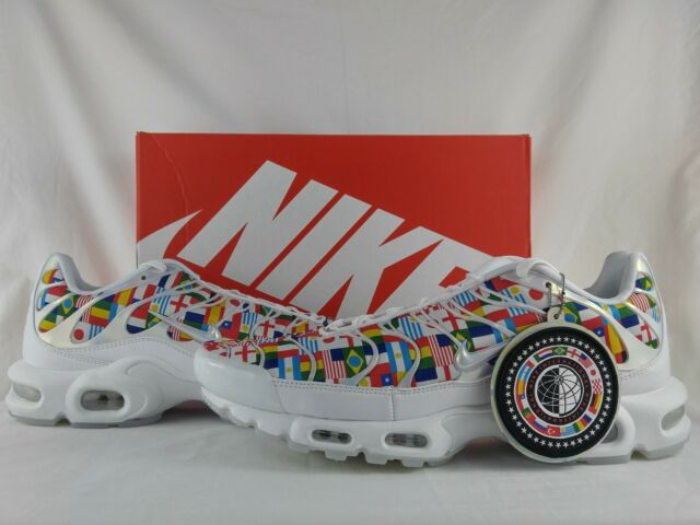 Nike Air Max Plus NIC QS International World Cup Flag White Multi AO5117 100 Men