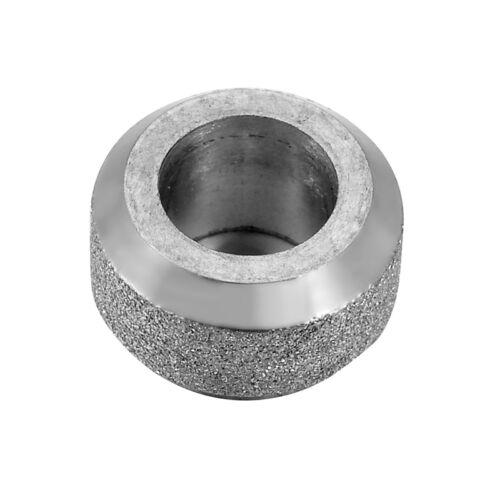 1 Edelstahl Silber Matt Rund Metallperlen European Beads Spacer 6.5mmx11mm LP