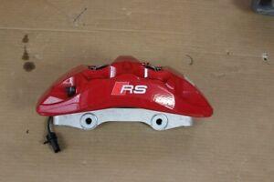 Audi RS4 8W RS5 F5 Pinza Freno Sella Pastiglie Rosso 8W0615105DK SX come Nuovo