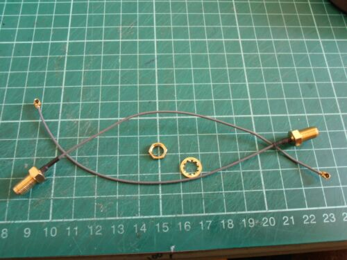 2pcs RP-SMA to IPEX  U.FL MHF2   cable for Antenna WiFi Router