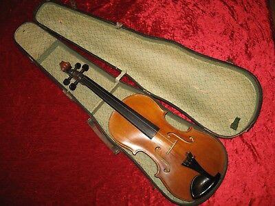 WohltäTig +++ Sehr Schöne, Alte 4/4 Geige (erst Ein Wenig überholungsbedürftig) +++ Reinigen Der MundhöHle.